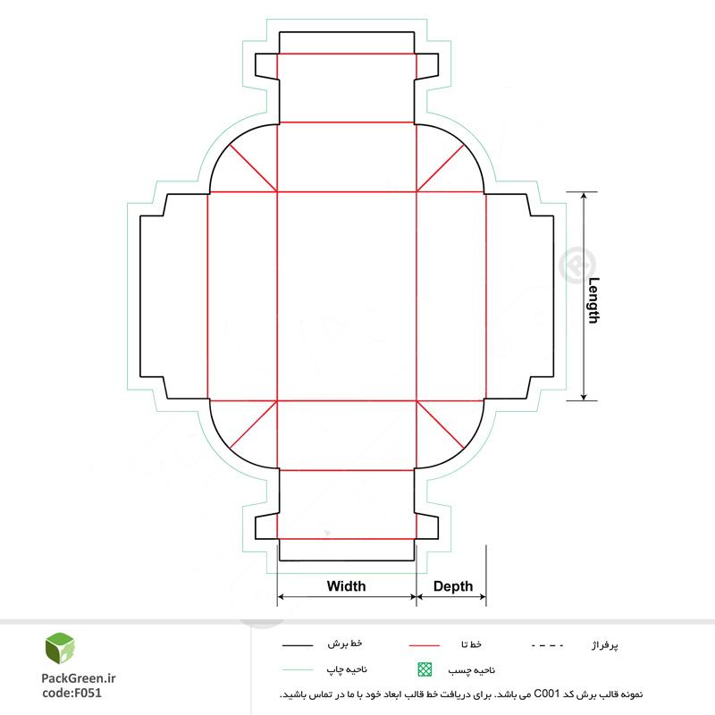 خط-تیغ-جعبه-مقوایی-کد-F076